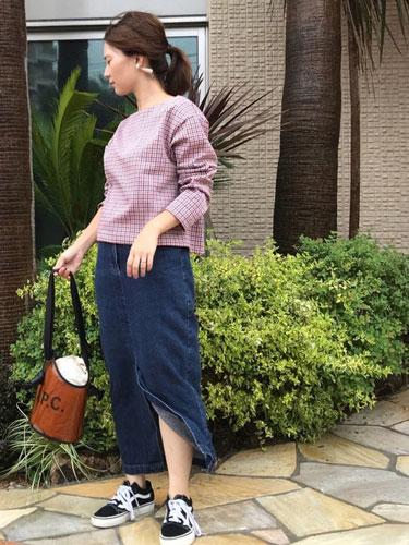 wear #デニムスカート